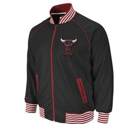 Chicago Bulls Black Big and Tall Downtown Track Jacket