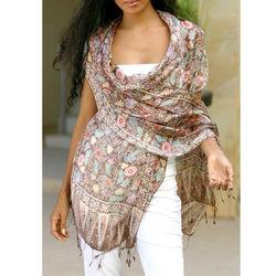 Euphoria Silk Batik Shawl