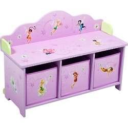 Disney Fairies Toy Organizer and Bench