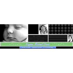 Personalized Modern Baby Boy Photo Banner