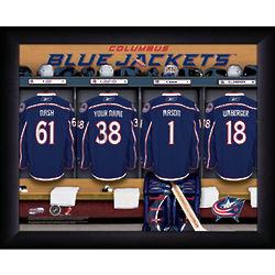 Personalized NHL Columbus Blue Jackets Locker Room Print