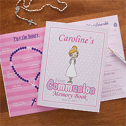 Personalized First Communion Girl's Memory Book