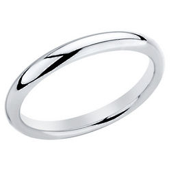 Lady's Comfort Fit Sterling Silver Wedding Band