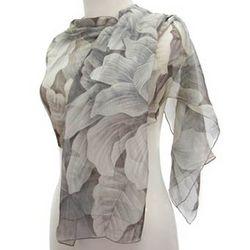 Cocoa Blossoms Silk Scarf