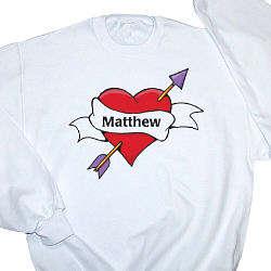 All Heart Personalized Adult Sweatshirt