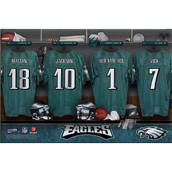 Philadelphia Eagles 16x24 Personalized Locker Room Canvas