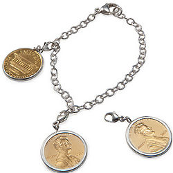 Penny Four Charm Bracelet with Personalized Year