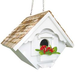 White Little Wren House Birdhouse