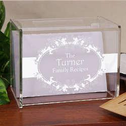 Engraved Family Recipe Box