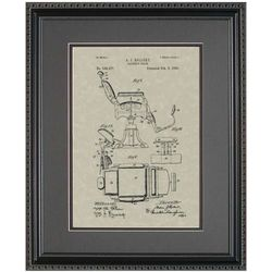 Barber Chair Patent Framed Print