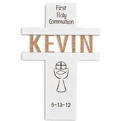 Personalized Communion Wall Cross with Chalice