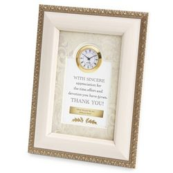 Sincere Appreciation Picture Frame Clock