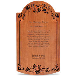 Our Marriage Prayer Personalized Wall Tablet