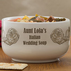 Bon Appetit Personalized Soup Bowl