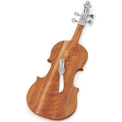 Violin Serving Board and Cheese Spreader