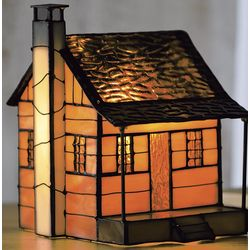 Tiffany-Style Cabin Night Light