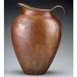 Hand Hammered Recycled Copper Pitcher