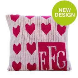Lots of Hearts Monogram Pillow