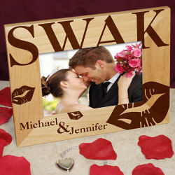 Sealed with a Kiss Valentine Wood Picture Frame