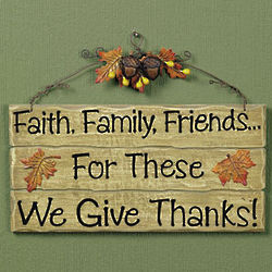 We Give Thanks Sign