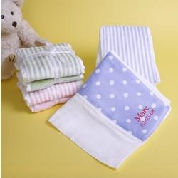 Personalized Velour Polka-Dot Burp Cloth Set