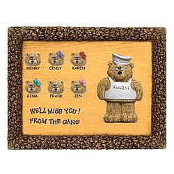 Personalized Chef Bears on Plaque