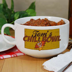 Personalized Ceramic Chili Bowl