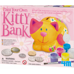 Paint a Kitty Bank Kit