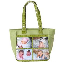Medium Kiwi Four Window Photo Frame Shoulder Bag