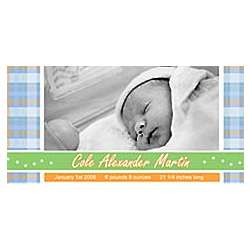 Personalized Plaid Photo Banner
