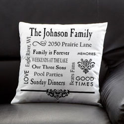 Personalized Family Memories Keepsake Pillow