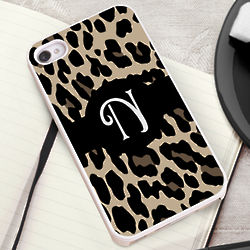 Luscious Leopard iPhone 4/5 Case with White Trim