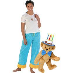 Birthday Cake Hat Teddy Bear & Birthday Party PJs Set