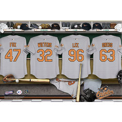 Baltimore Orioles 16x24 Personalized Locker Room Canvas