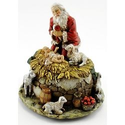 Kneeling Santa Musical Figure