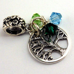 Family Tree Birthstone Charm