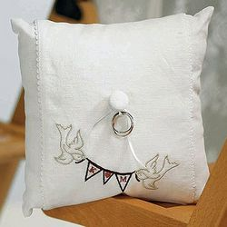 Love Pennant Personalized Ring Pillow