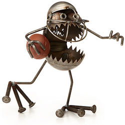 Reclaimed Steel Football Gnome