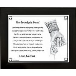 Personalized Grandpa's Hand Framed Print