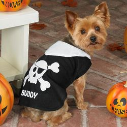 Personalized Pirate Skull Cape Pet Costume