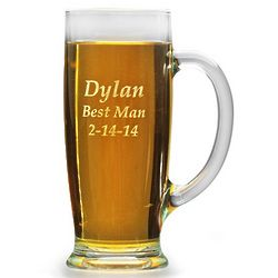 Personalized Pilsner Glass with Handle