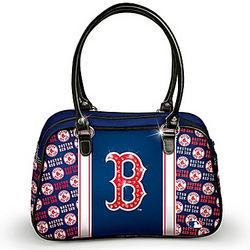 Designer-Style Boston Red Sox City Chic Handbag