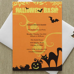 Personalized Halloween Bash Party Invitations