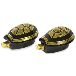 Royal Turtles Lacquered Wood Jewelry Boxes
