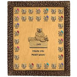 Personalized Bears Plaque for Physical Therapist
