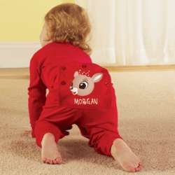 Personalized Santa's Clarice Character Toddler Long Johns