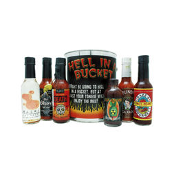 Hell in a Bucket Hot Sauce Sampler