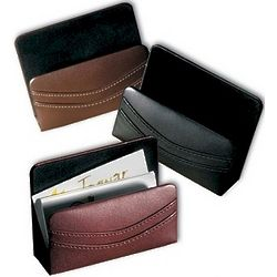 Leather Desk Business Card Holder