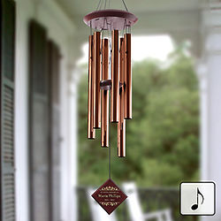 Personalized Bronze Memorial Wind Chime