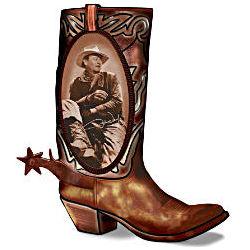John Wayne Walking Tall Boot Lamp